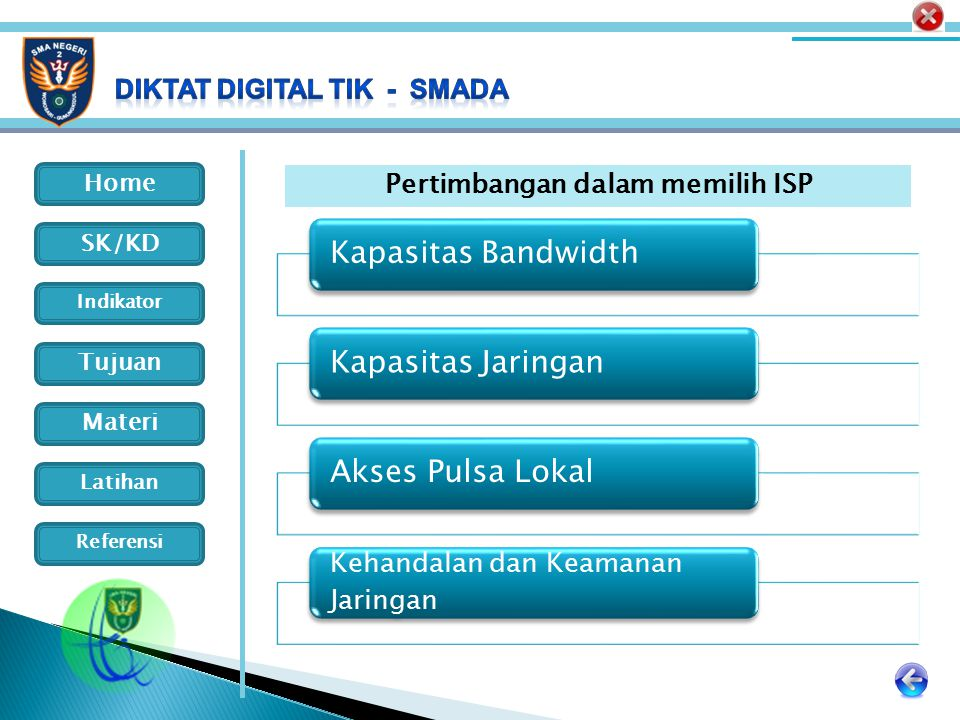 Pertimbangan dalam memilih ISP