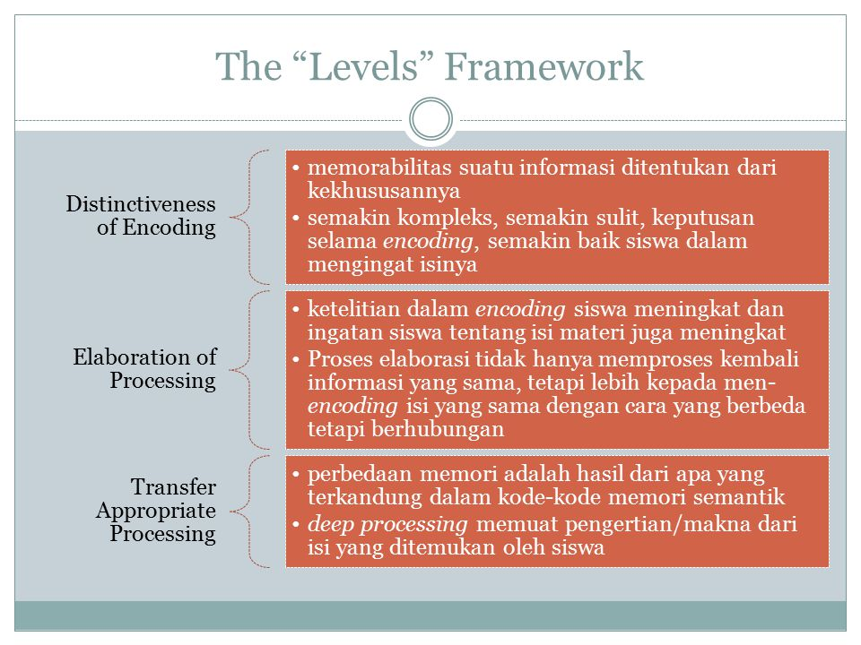 The Levels Framework