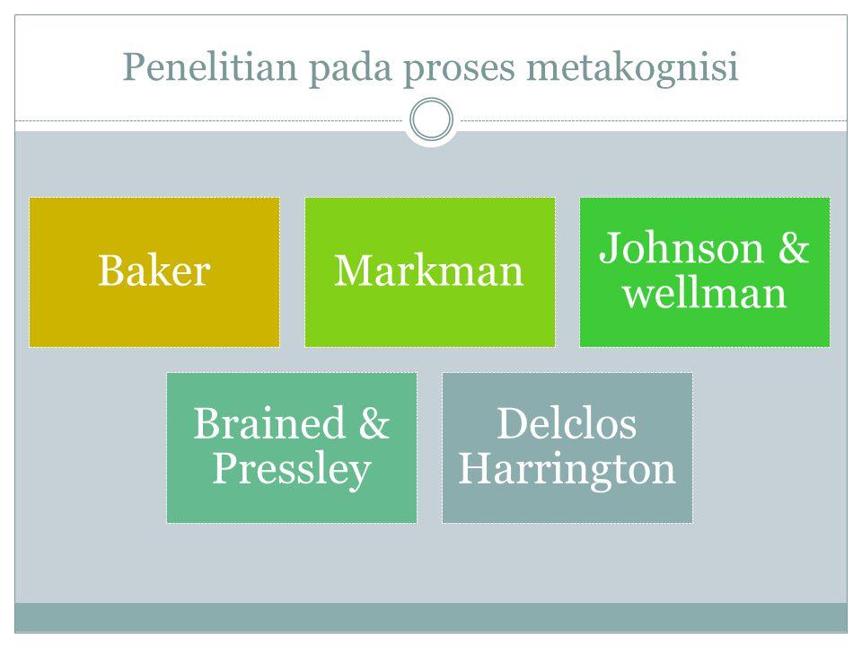 Penelitian pada proses metakognisi