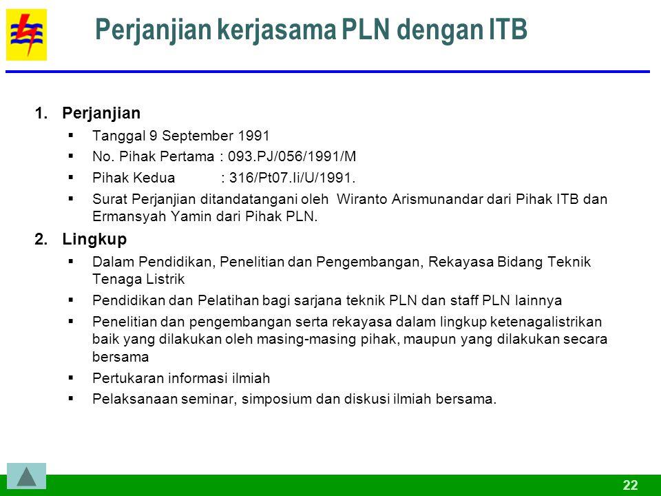 Perjanjian kerjasama PLN dengan ITB