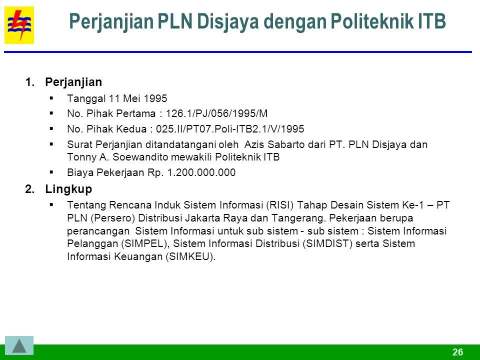 Perjanjian PLN Disjaya dengan Politeknik ITB