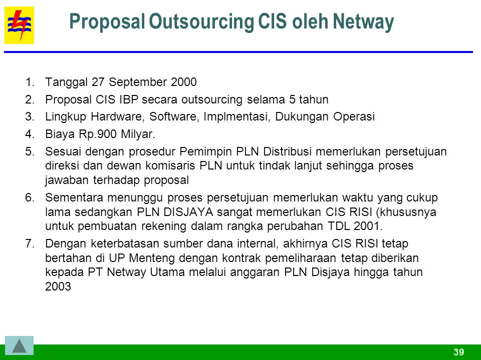Proposal Outsourcing CIS oleh Netway