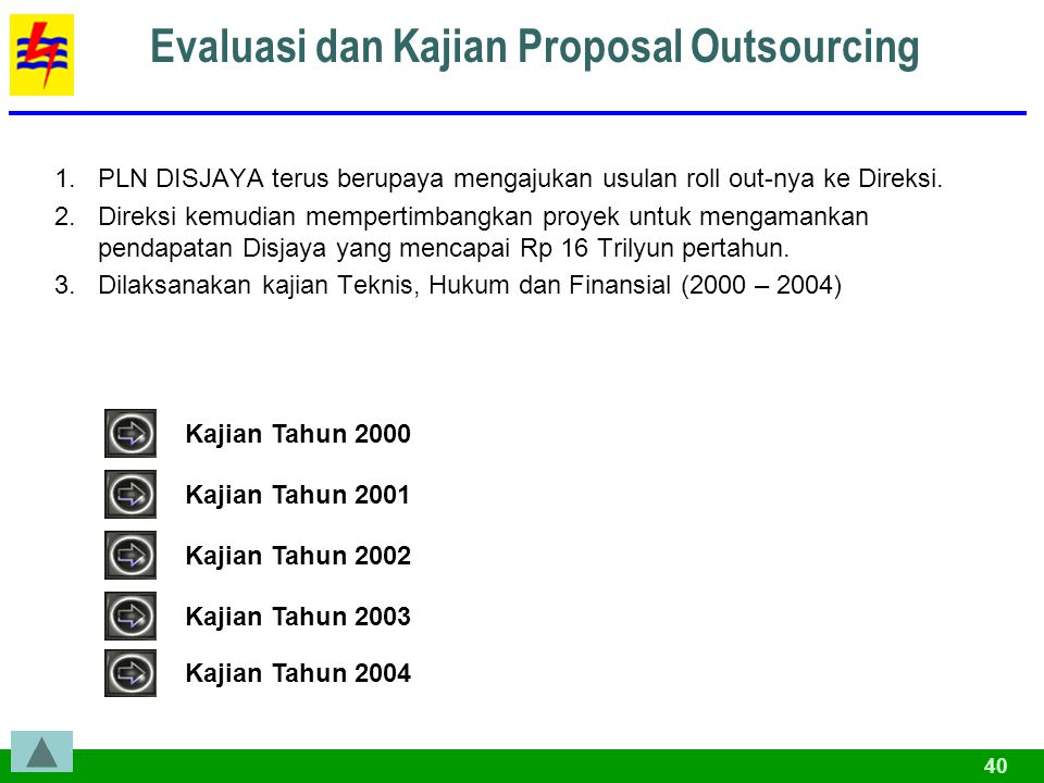 Evaluasi dan Kajian Proposal Outsourcing