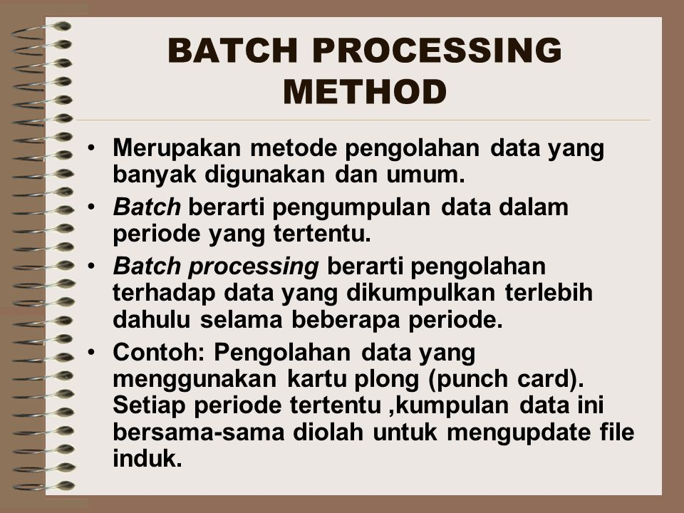 BATCH PROCESSING METHOD