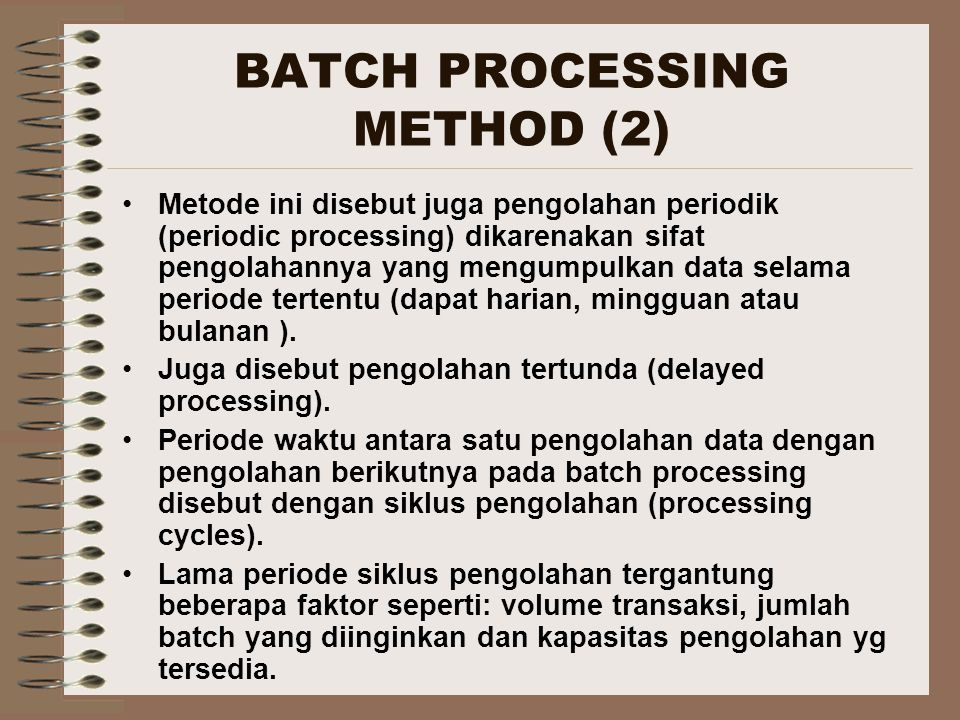 BATCH PROCESSING METHOD (2)