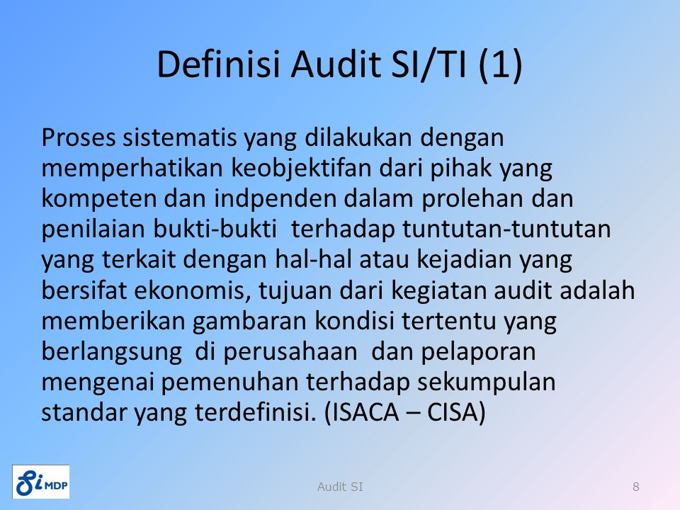 Definisi Audit SI/TI (1)