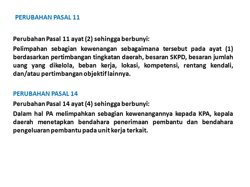 PERUBAHAN PASAL 11