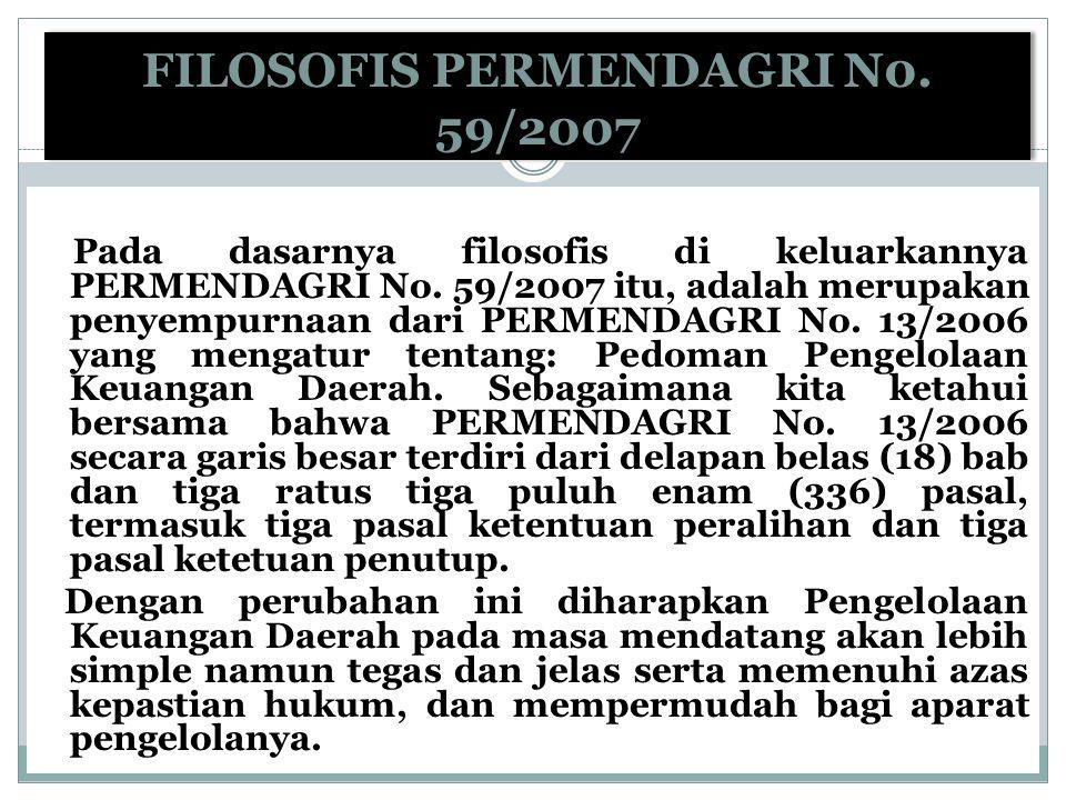FILOSOFIS PERMENDAGRI N0. 59/2007