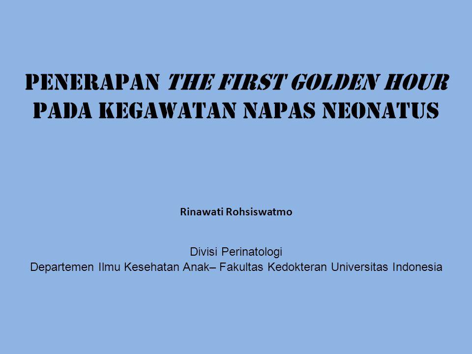 PENERAPAN THE FIRST GOLDEN HOUR PADA KEGAWATAN NAPAS NEONATUS