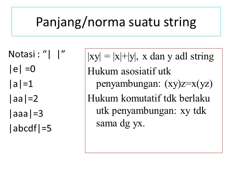 Panjang/norma suatu string