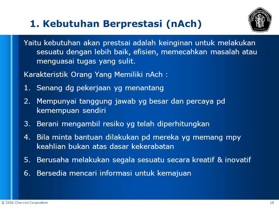 1. Kebutuhan Berprestasi (nAch)