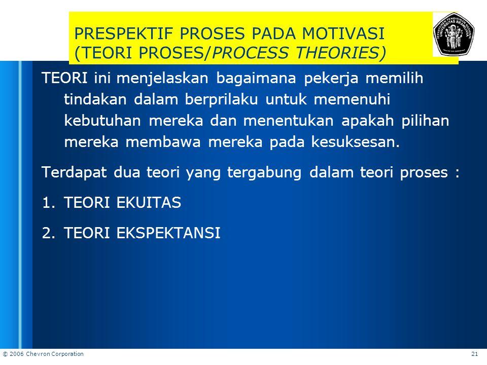 PRESPEKTIF PROSES PADA MOTIVASI (TEORI PROSES/PROCESS THEORIES)