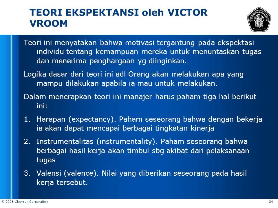 TEORI EKSPEKTANSI oleh VICTOR VROOM
