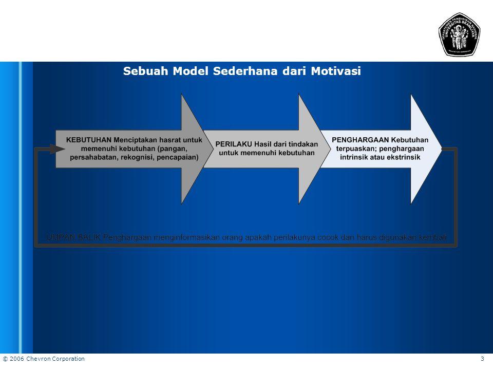 Sebuah Model Sederhana dari Motivasi