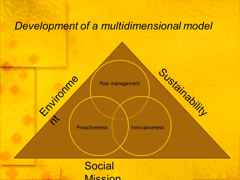 Development of a multidimensional model
