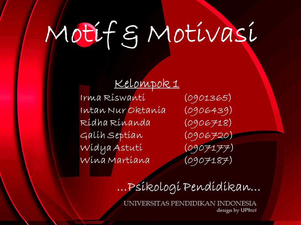Motif & Motivasi Kelompok 1 …Psikologi Pendidikan…