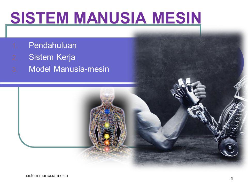 Pendahuluan Sistem Kerja Model Manusia-mesin
