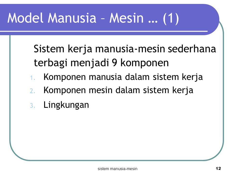 Model Manusia – Mesin … (1)
