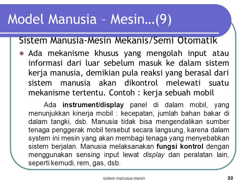 Model Manusia – Mesin…(9)