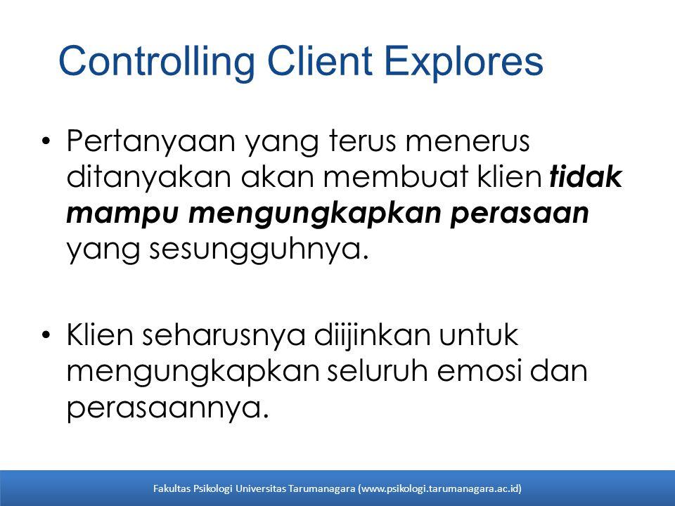 Controlling Client Explores