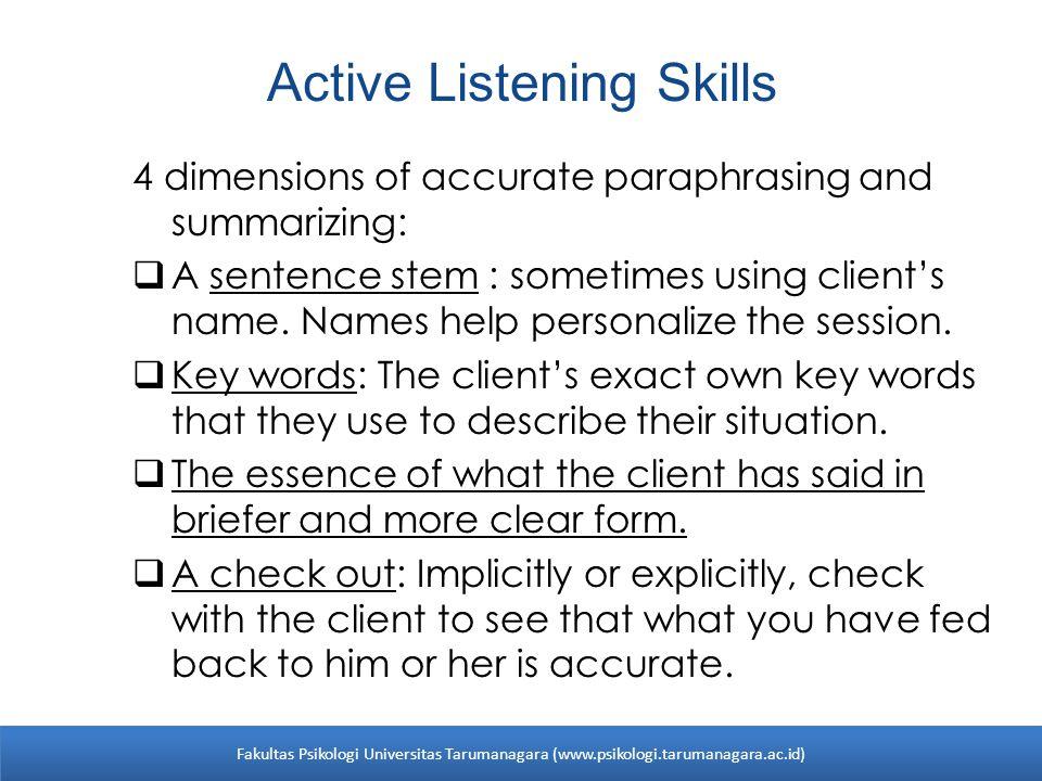 Active Listening Skills