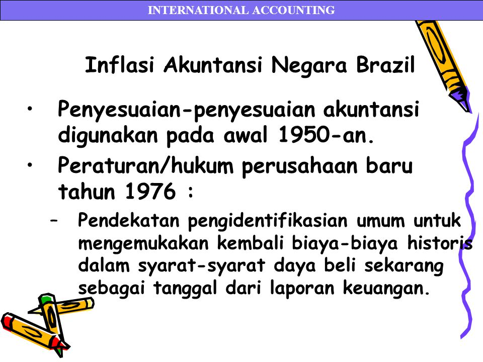 INTERNATIONAL ACCOUNTING Inflasi Akuntansi Negara Brazil