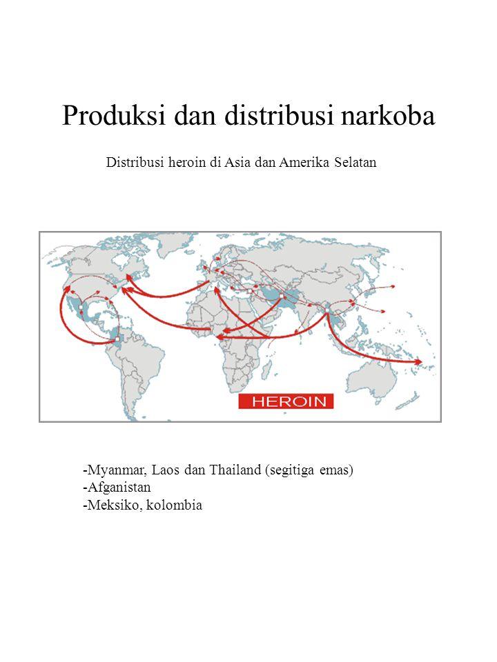 Produksi dan distribusi narkoba