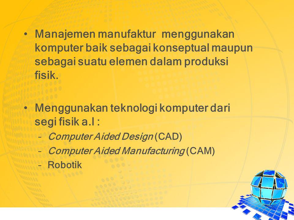Menggunakan teknologi komputer dari segi fisik a.l :
