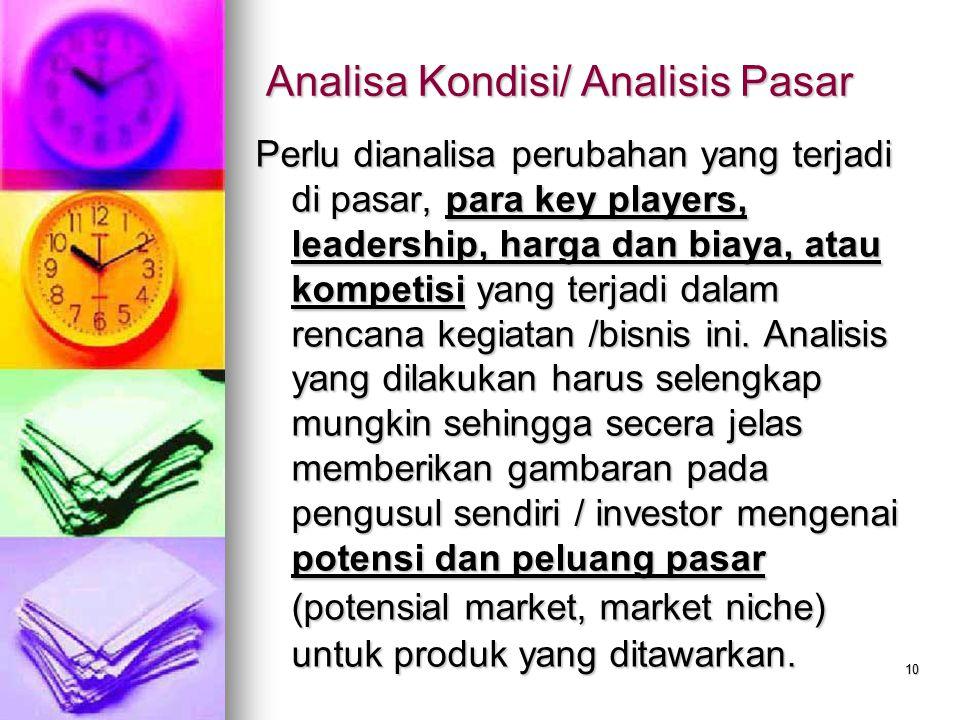 Analisa Kondisi/ Analisis Pasar