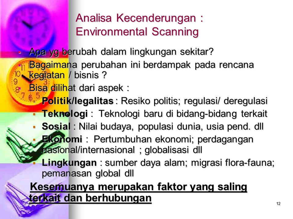 Analisa Kecenderungan : Environmental Scanning