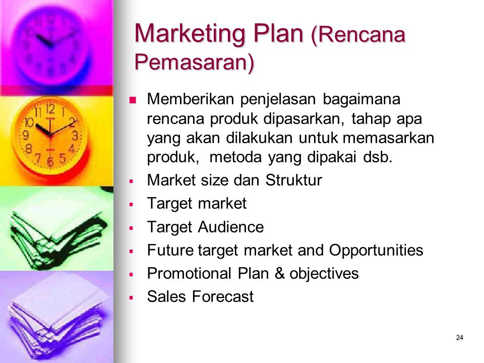 Marketing Plan (Rencana Pemasaran)