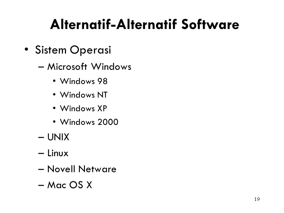 Alternatif-Alternatif Software