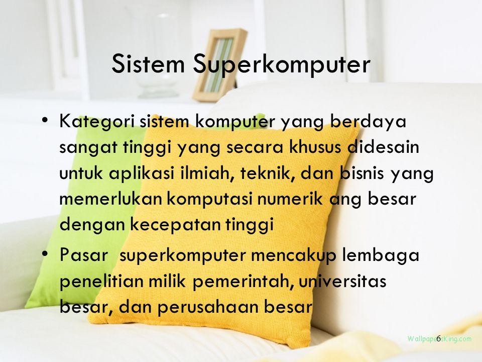 Sistem Superkomputer