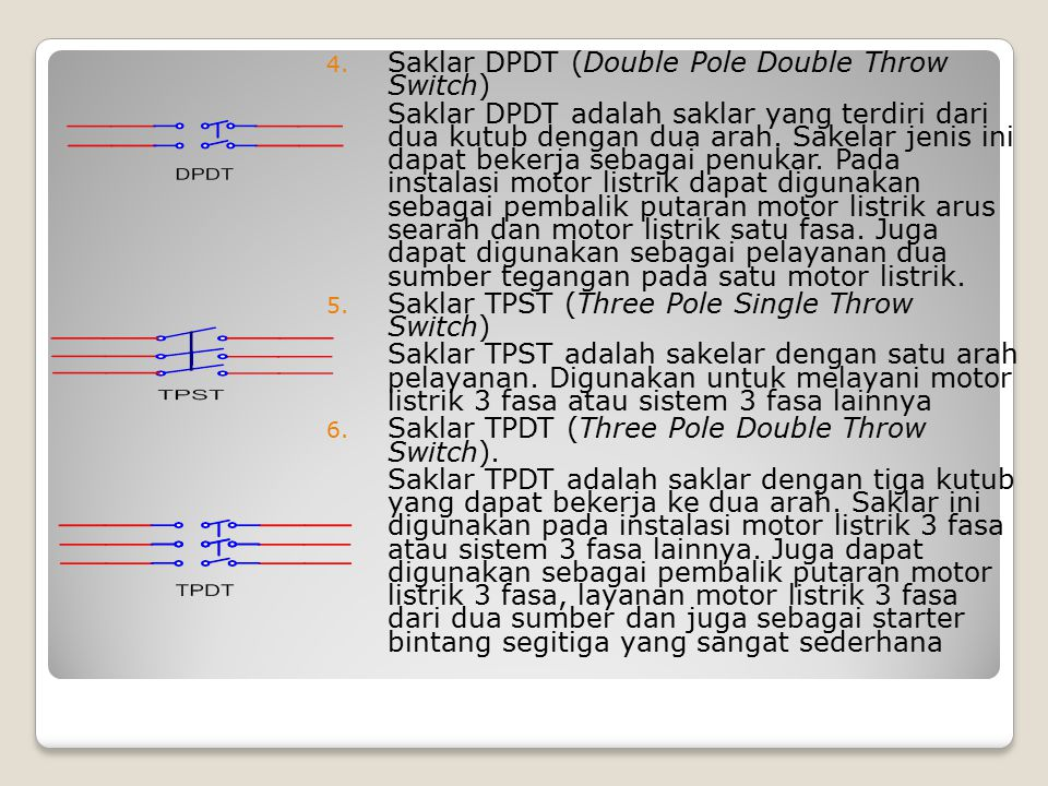 Saklar DPDT (Double Pole Double Throw Switch)