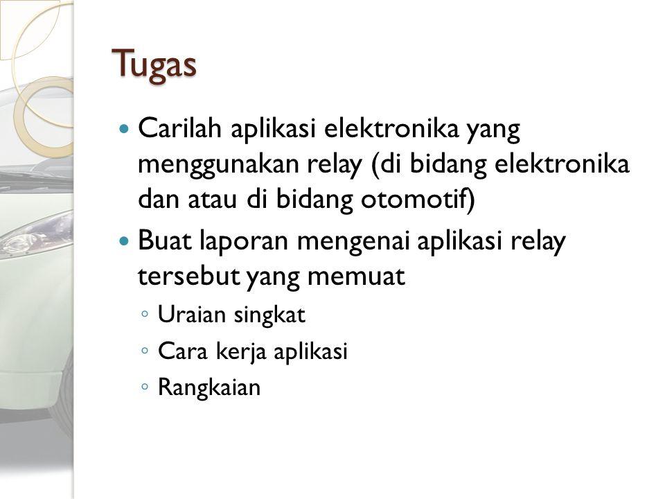 Tugas Carilah aplikasi elektronika yang menggunakan relay (di bidang elektronika dan atau di bidang otomotif)