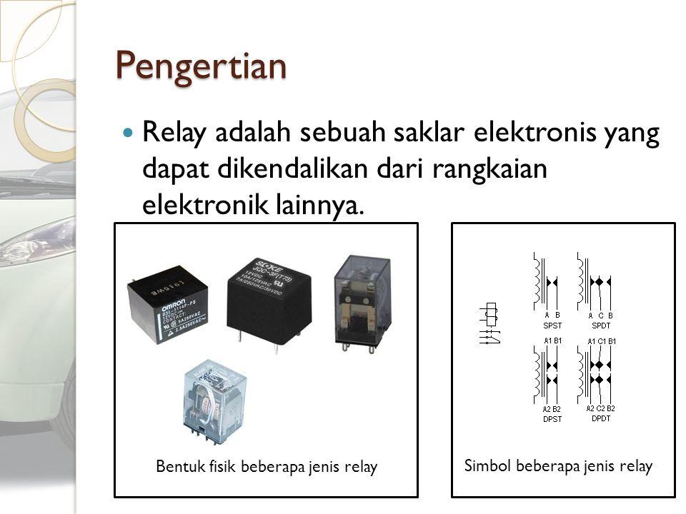 Pengertian Relay adalah sebuah saklar elektronis yang dapat dikendalikan dari rangkaian elektronik lainnya.