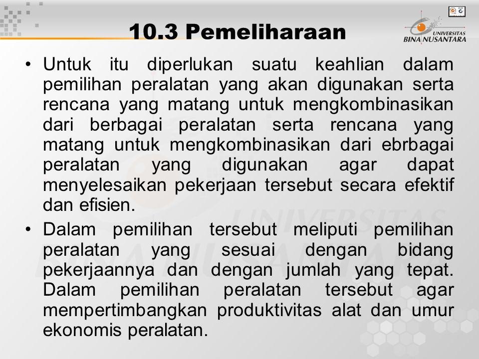 10.3 Pemeliharaan