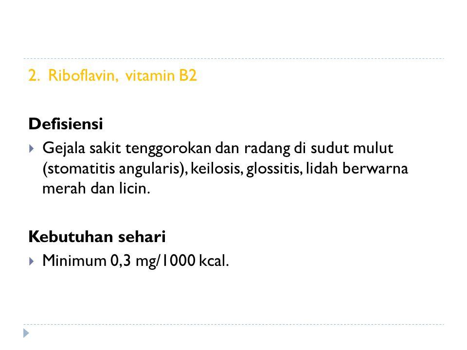 2. Riboflavin, vitamin B2 Defisiensi.