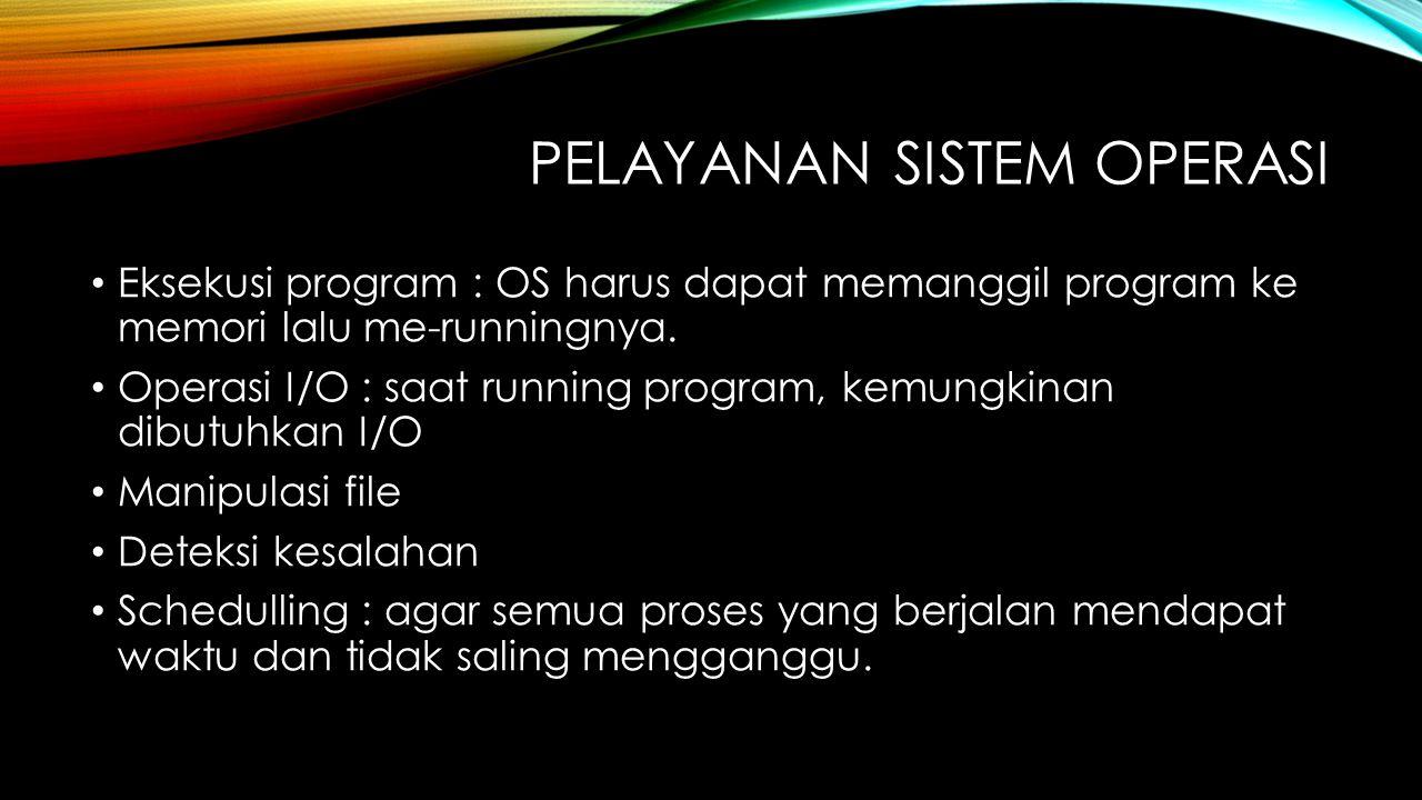 Pelayanan Sistem operasi