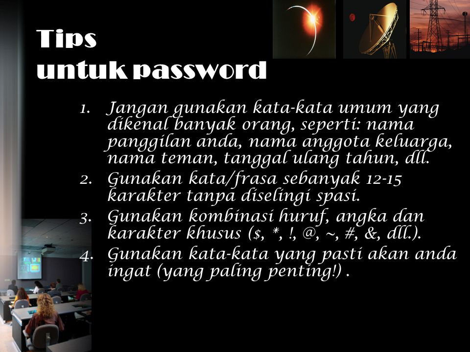 Tips untuk password