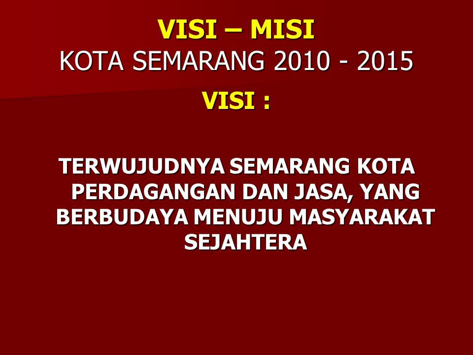 VISI – MISI KOTA SEMARANG 2010 - 2015