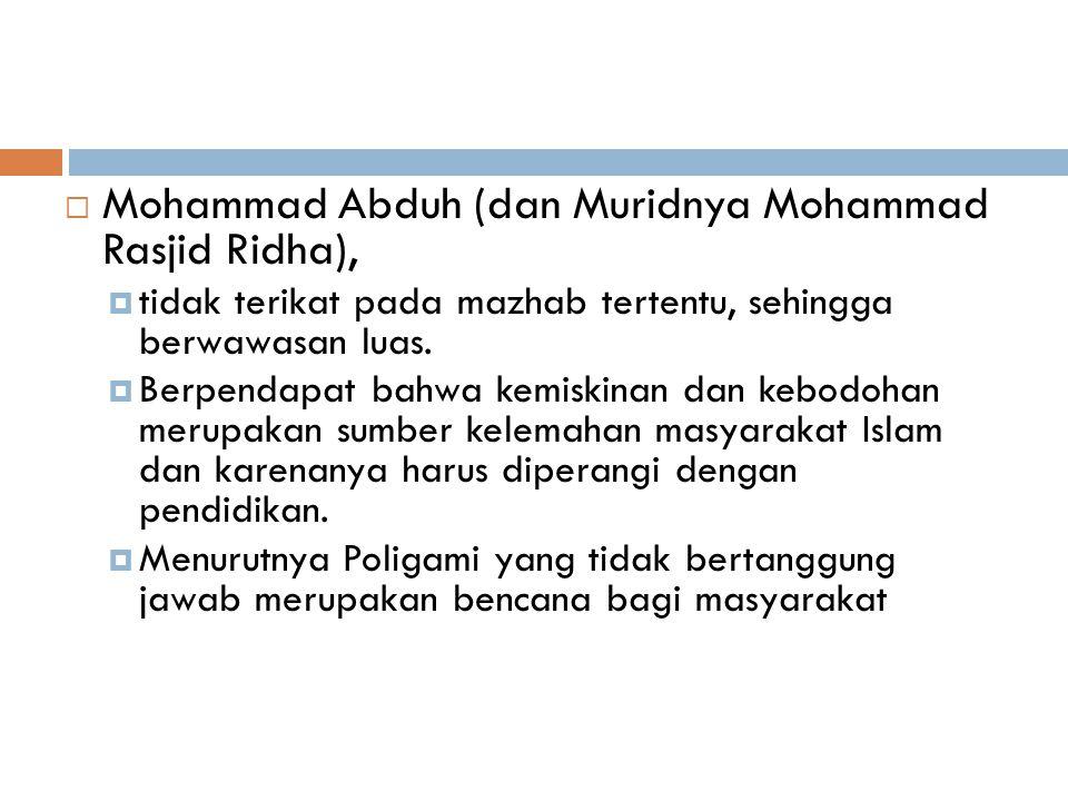 Mohammad Abduh (dan Muridnya Mohammad Rasjid Ridha),