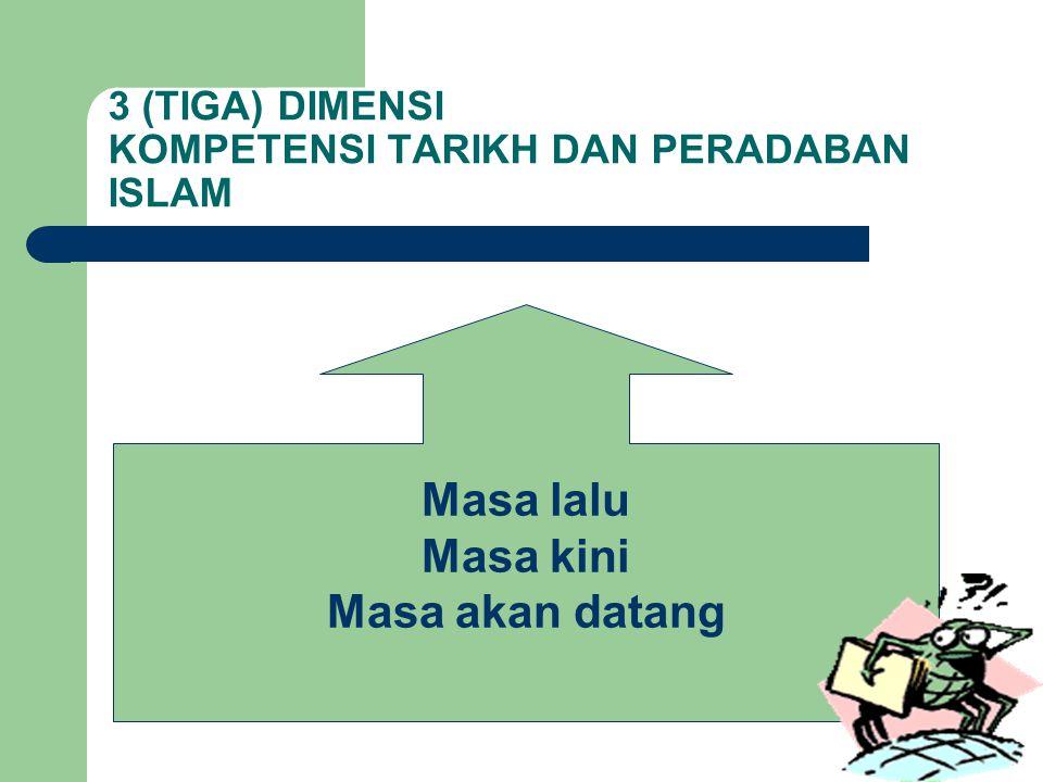 3 (TIGA) DIMENSI KOMPETENSI TARIKH DAN PERADABAN ISLAM