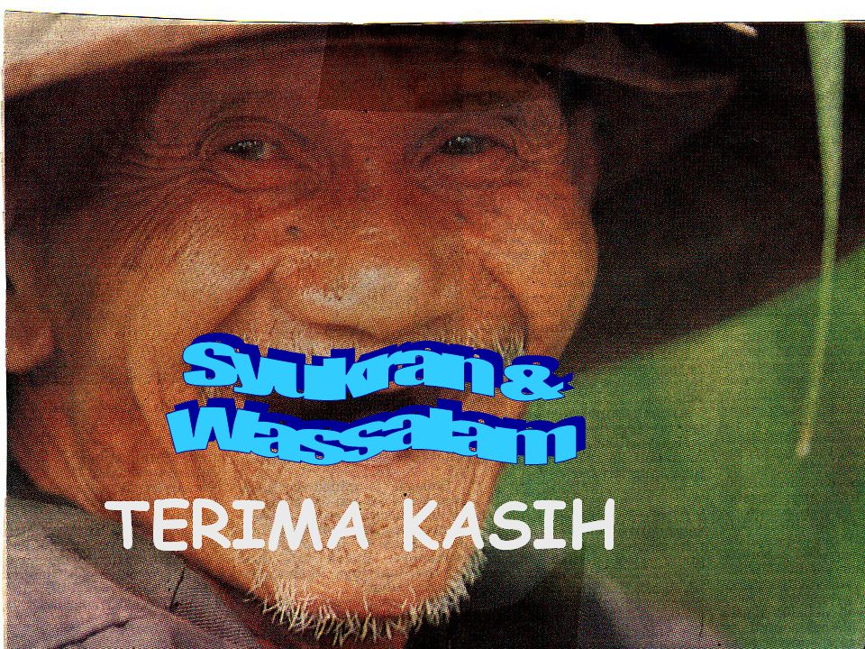 Syukran & Wassalam