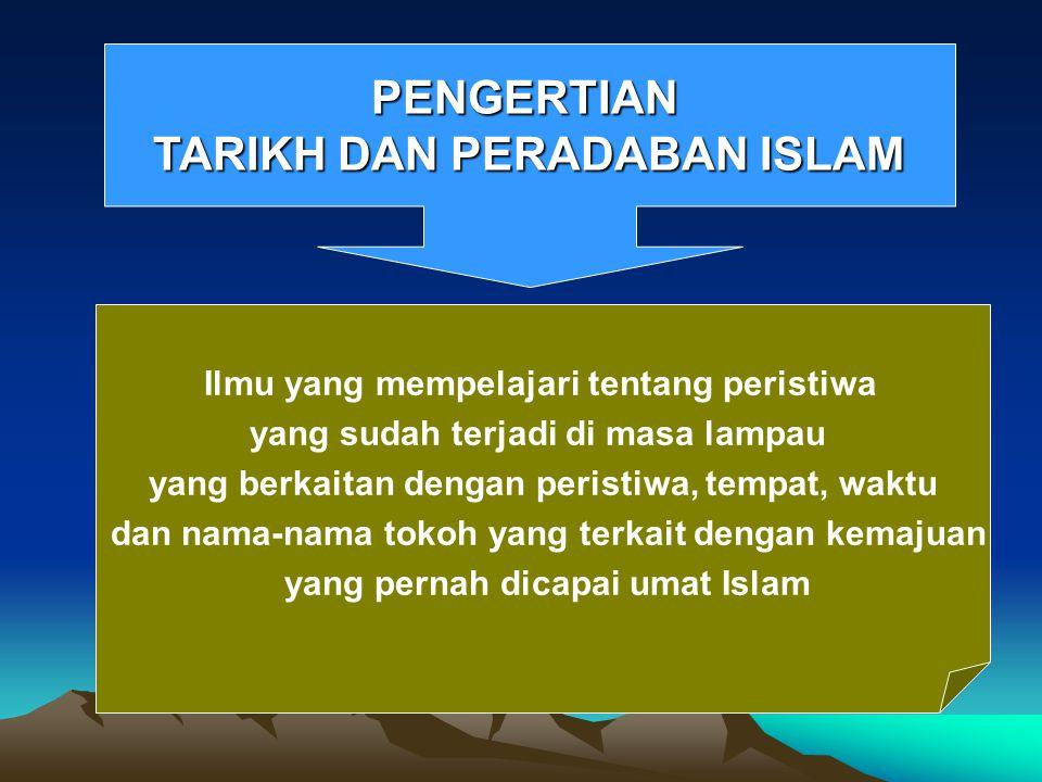 PENGERTIAN TARIKH DAN PERADABAN ISLAM
