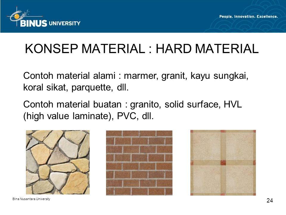 KONSEP MATERIAL : HARD MATERIAL