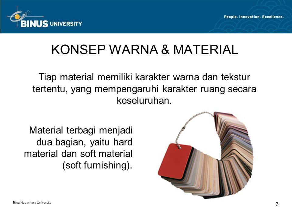 KONSEP WARNA & MATERIAL
