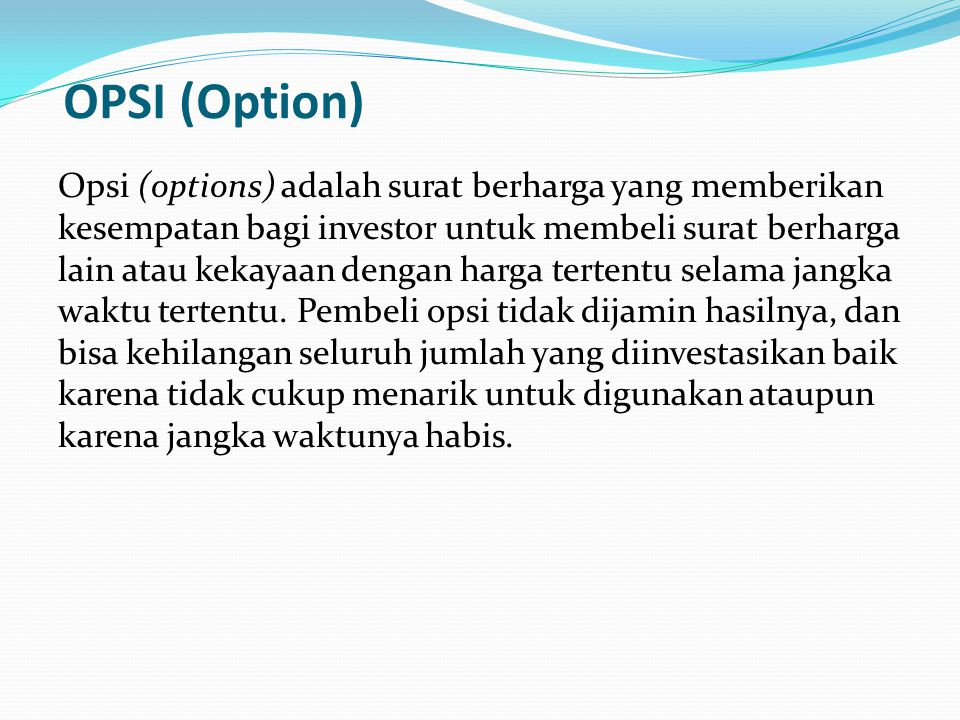OPSI (Option)