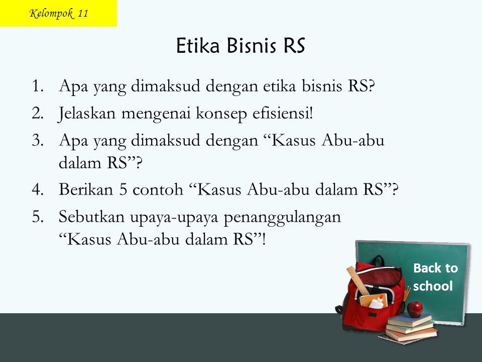 Etika Bisnis RS Apa yang dimaksud dengan etika bisnis RS
