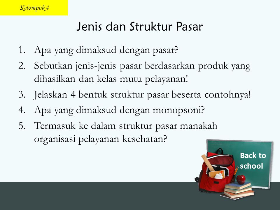 Jenis dan Struktur Pasar